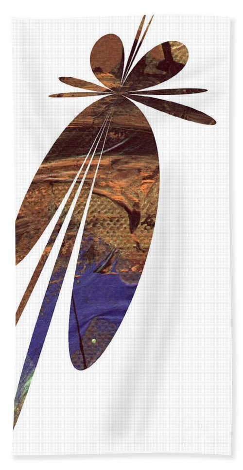 Abstract Bath Sheet featuring the digital art Brown Butterfly by Angela L Walker