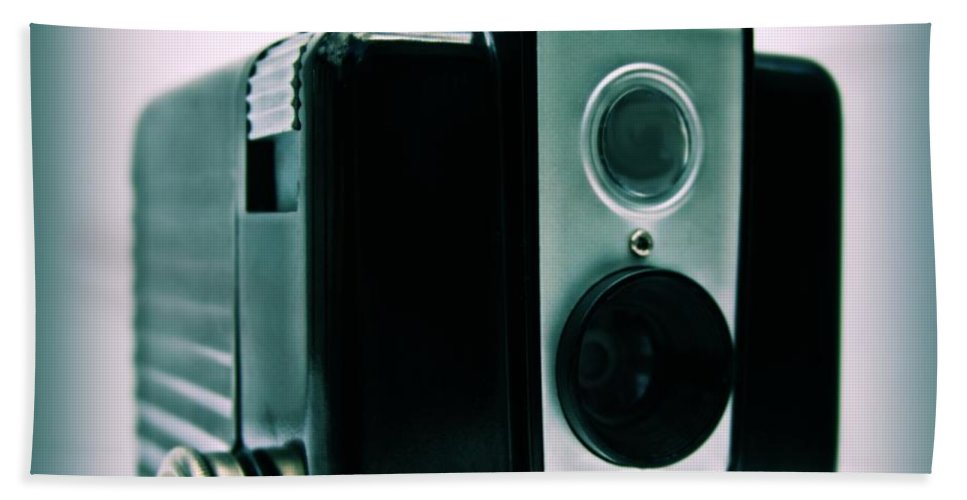 Camera Hand Towel featuring the photograph Brownie Hawkeye by DJ Florek
