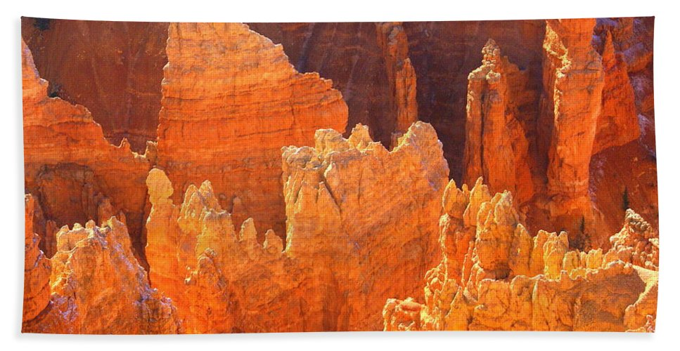 Bryce Canyon National Park Hand Towel featuring the photograph Bryce Ablaze by Marty Koch