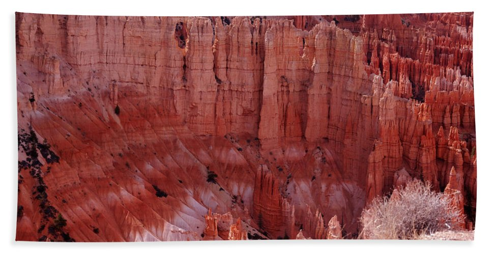 Landmark Bath Sheet featuring the photograph Bryce Canyon Hoodoos by Susanne Van Hulst