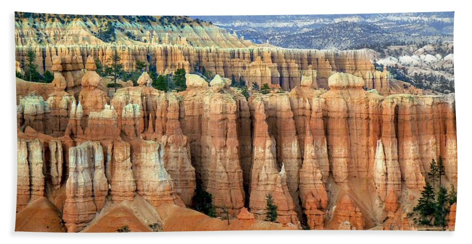 Bryce Canyon Bath Sheet featuring the photograph Bryce Canyon Vertical Hoodoos by Rincon Road Photography By Ben Petersen