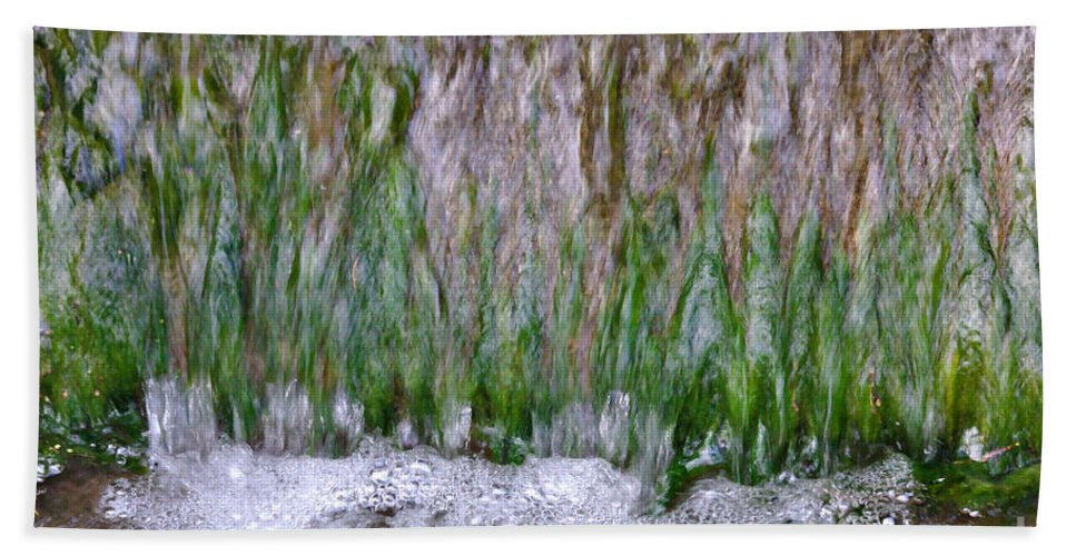 Abstract Hand Towel featuring the photograph Bubbles by Jeremy Hayden