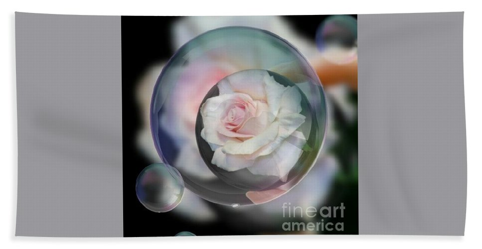 Bubbles Of Love Hand Towel featuring the photograph Bubbles Of Love by Jeannie Rhode