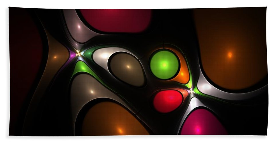 Bubble Hand Towel featuring the digital art Bubbleshock by Steve K