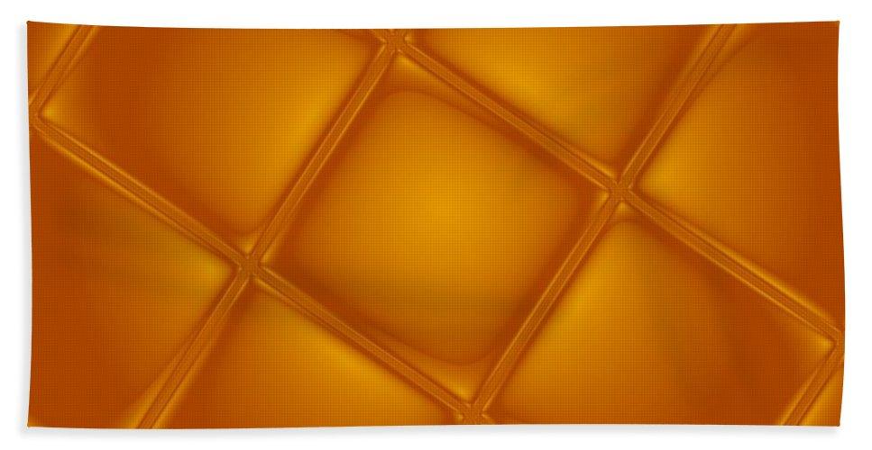 Digital Art Hand Towel featuring the digital art Bubbling Amber by Pharris Art