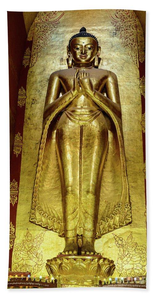 Pagoda Hand Towel featuring the photograph Buddha Figure 1 by Werner Padarin