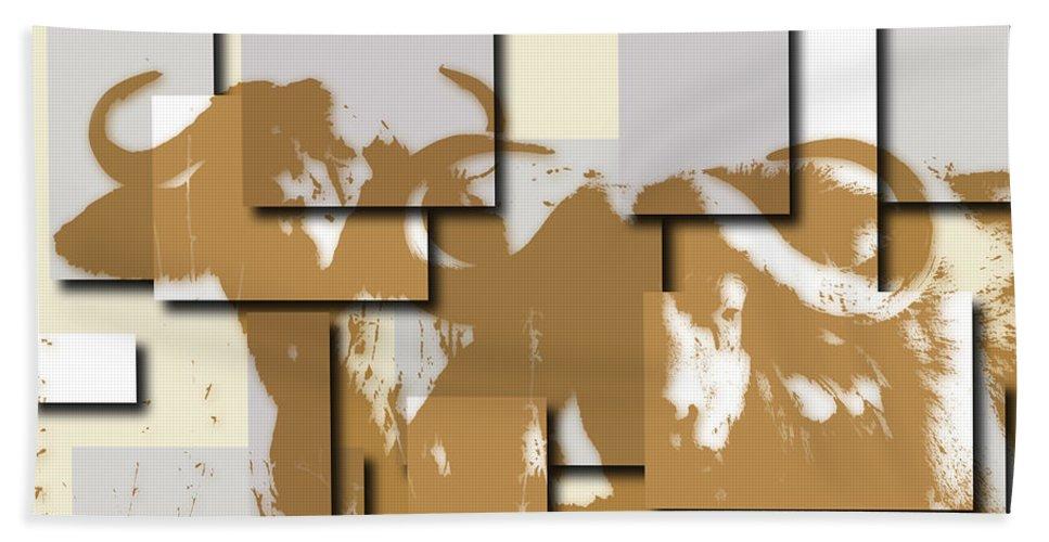 Buffalo Hand Towel featuring the photograph Buffalo 5 by Joe Hamilton