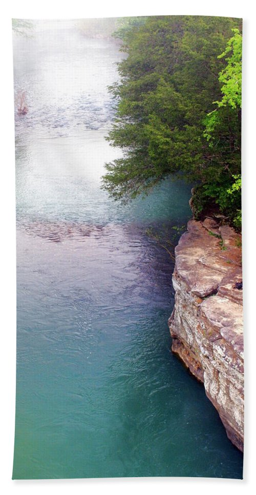 Ozarks Bath Towel featuring the photograph Buffalo River Mist by Marty Koch