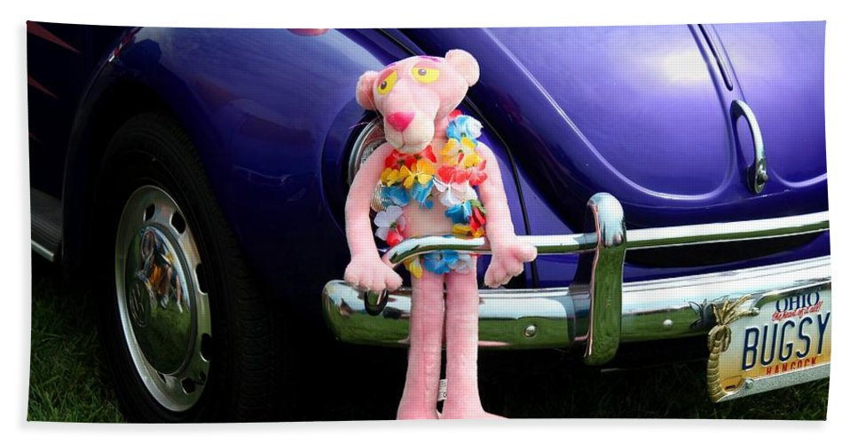 Car Hand Towel featuring the photograph Bugsy Rider by Michiale Schneider