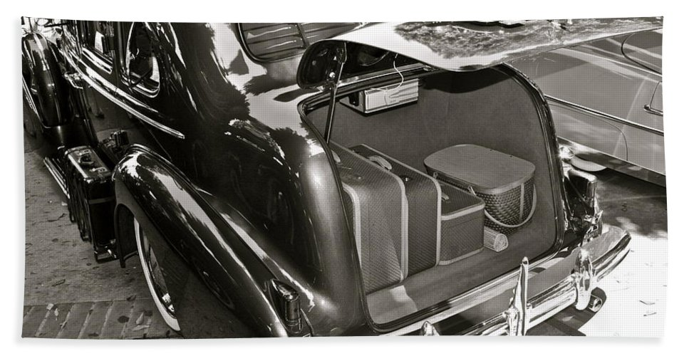 Photograph Bath Sheet featuring the photograph Buick Road Trip by Gwyn Newcombe