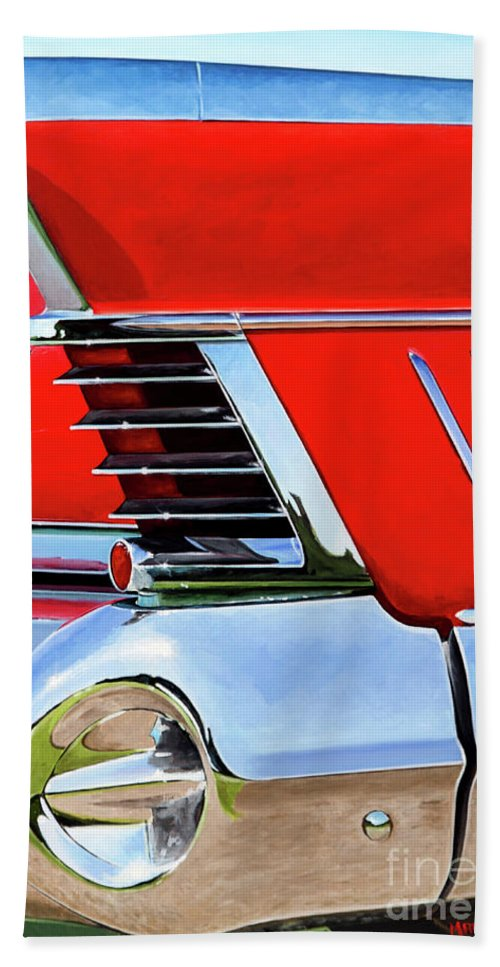 Buick 756 Hand Towel featuring the painting Buick756 by Marek Ptak