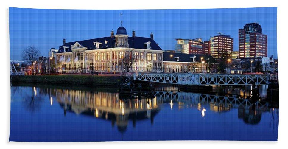 Royal Dutch Mint Hand Towel featuring the photograph Building Of The Royal Dutch Mint In Utrecht 19 by Merijn Van der Vliet