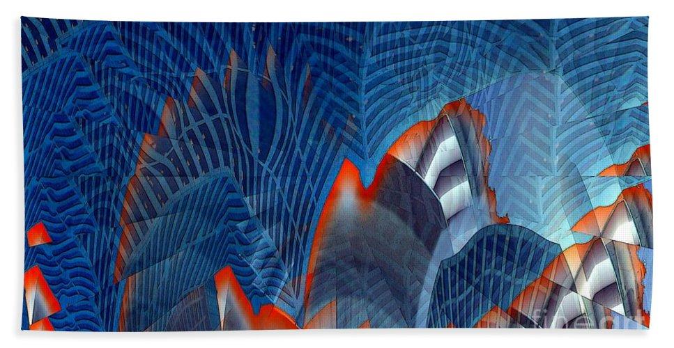 Dgital Art Hand Towel featuring the digital art Buildingscape by Ron Bissett