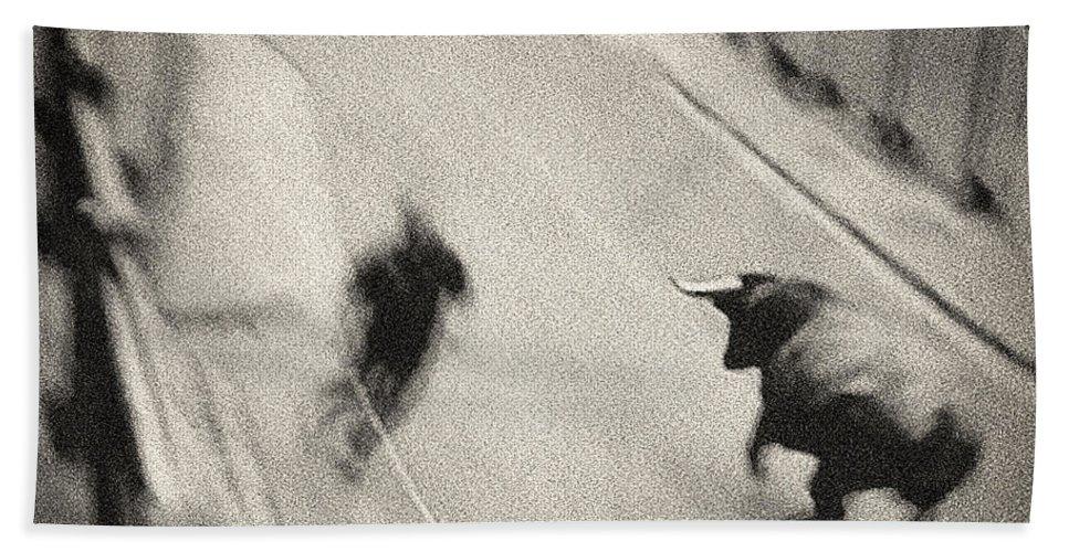 San Fermin Bath Sheet featuring the photograph Bull Run 2 by Rafa Rivas