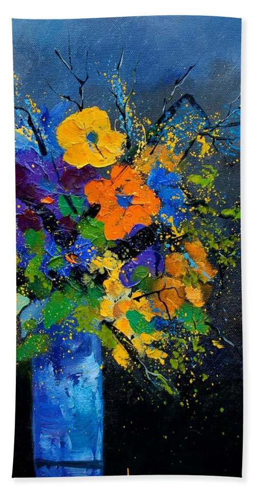 Poppies Bath Towel featuring the painting Bunch 1007 by Pol Ledent