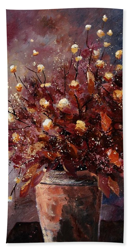 Poppies Hand Towel featuring the painting Bunch 56 by Pol Ledent