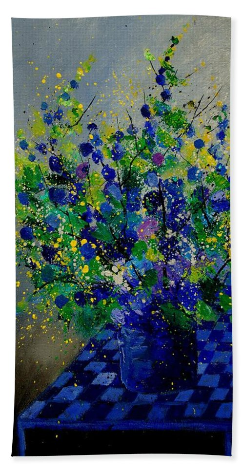 Flowers Bath Towel featuring the painting Bunch 9020 by Pol Ledent