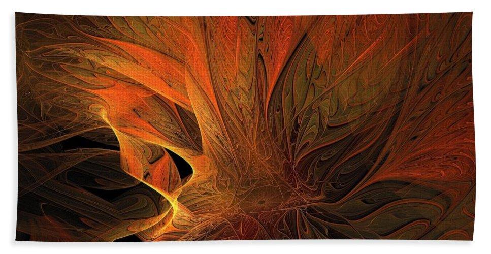 Digital Art Bath Sheet featuring the digital art Burn by Amanda Moore