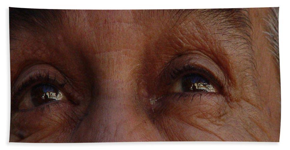 Eyes Bath Towel featuring the photograph Burned Eyes by Peter Piatt