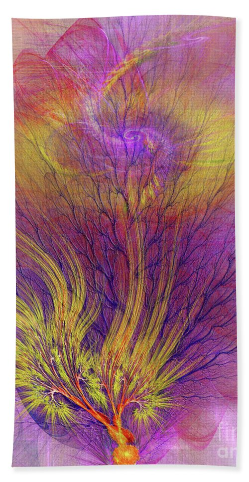 Burning Bush Bath Towel featuring the digital art Burning Bush by John Beck