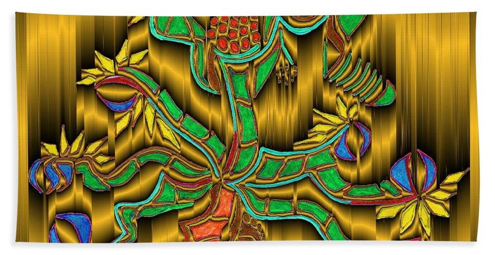 Digital Bath Sheet featuring the digital art Burning Bush by Mark Sellers