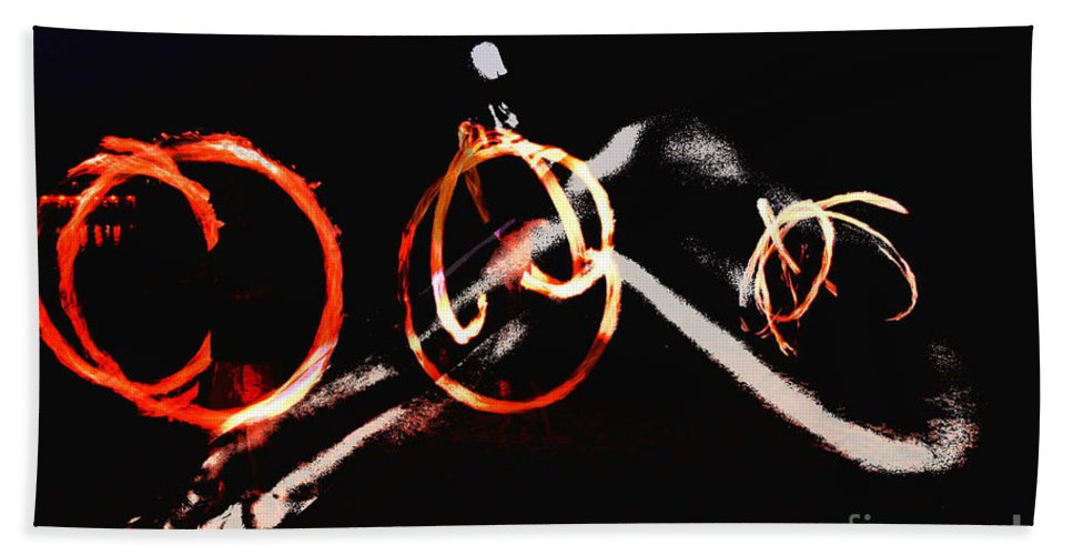 Clay Hand Towel featuring the photograph Burning Rings Of Fire by Clayton Bruster