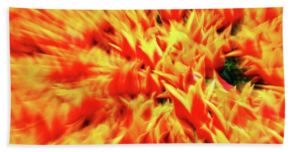 Orange Bath Sheet featuring the photograph Burst Of Orange by Daniel Koglin