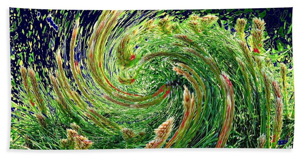 Pine Hand Towel featuring the photograph Bush In Transition by Ian MacDonald