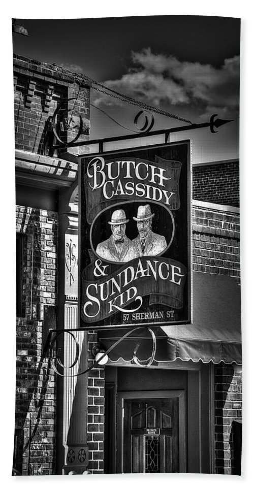 Deadwood Hand Towel featuring the photograph Butch Cassidy And The Sundance Kid by Deborah Klubertanz