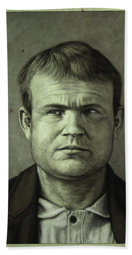 Butch Cassidy Hand Towel featuring the painting Butch Cassidy by James W Johnson