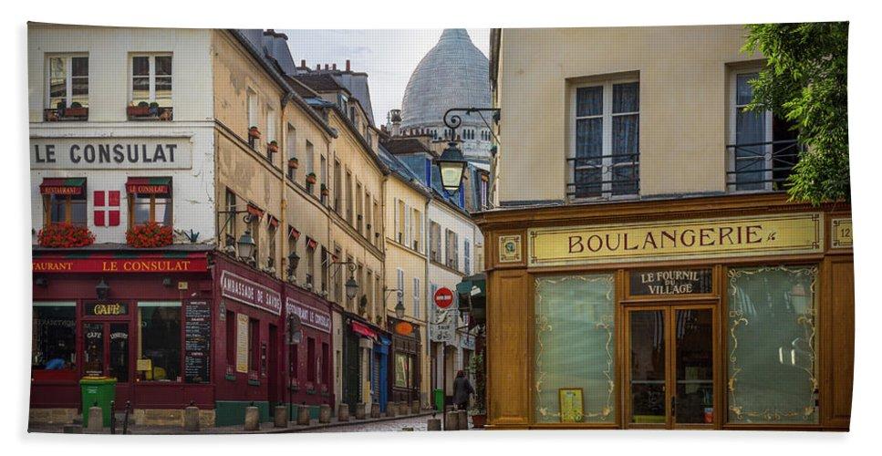Europa Bath Sheet featuring the photograph Butte De Montmartre by Inge Johnsson