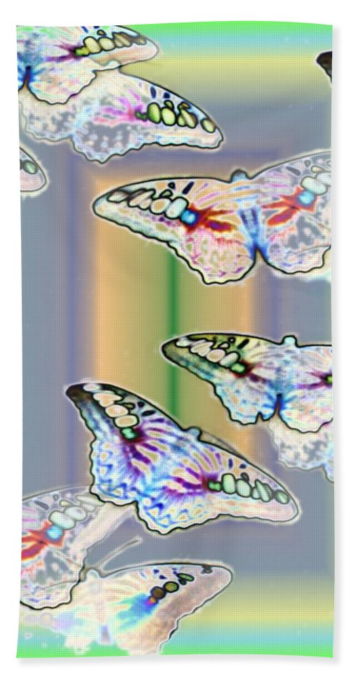 Butterflies Bath Sheet featuring the photograph Butterflies In The Vortex by Tim Allen