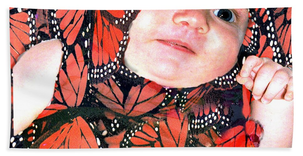 Butterfly Hand Towel featuring the photograph Butterfly Baby by Seth Weaver