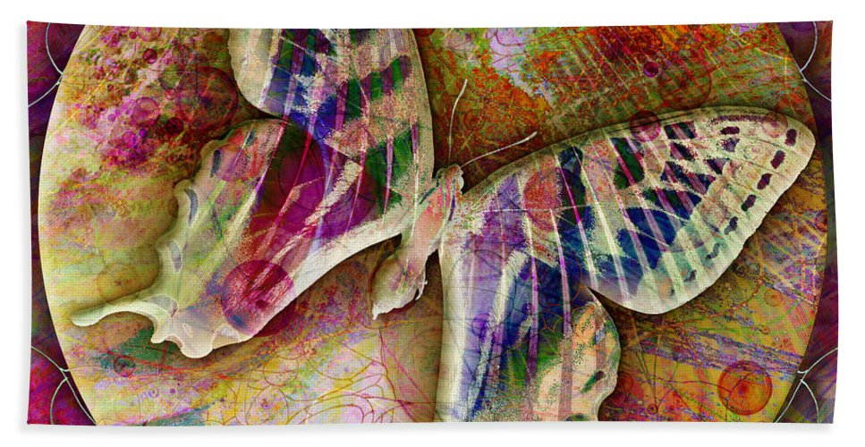 Butterfly Hand Towel featuring the digital art Butterfly by Barbara Berney