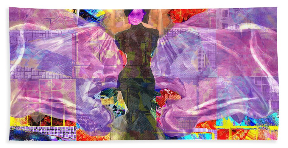 Butterfly Hand Towel featuring the digital art Butterfly Fantasy by Seth Weaver