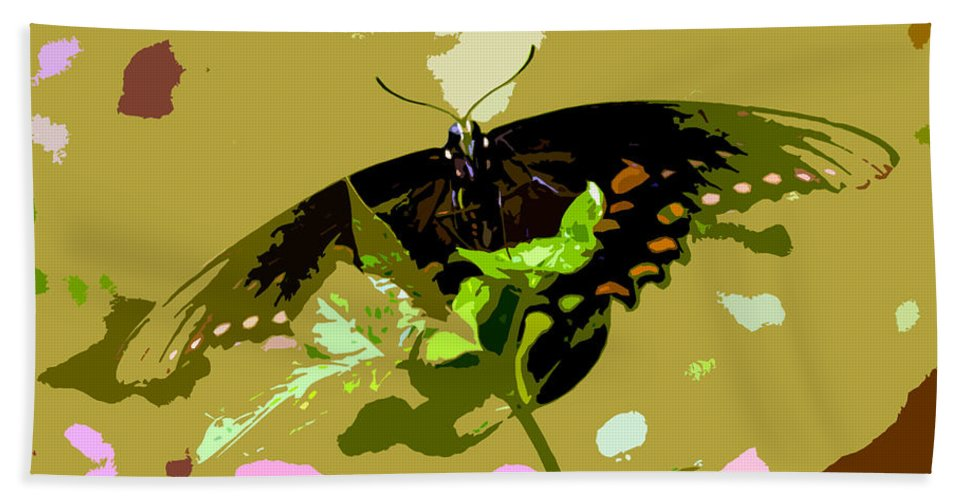 Butterfly Hand Towel featuring the photograph Butterfly In Color by David Lee Thompson