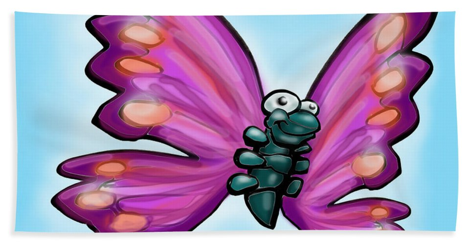 Butterfly Bath Sheet featuring the painting Butterfly by Kevin Middleton
