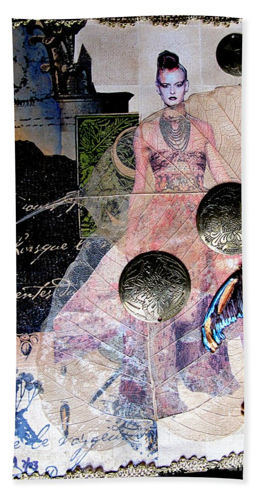 Butterfly Bath Sheet featuring the mixed media Butterfly by Sandy McIntire