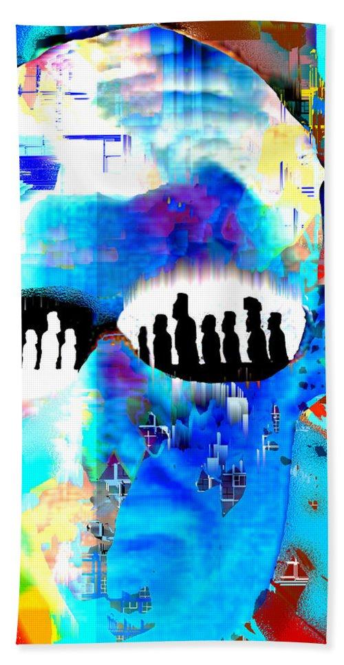 Button Down Bath Sheet featuring the digital art Button Down Disasters by Seth Weaver
