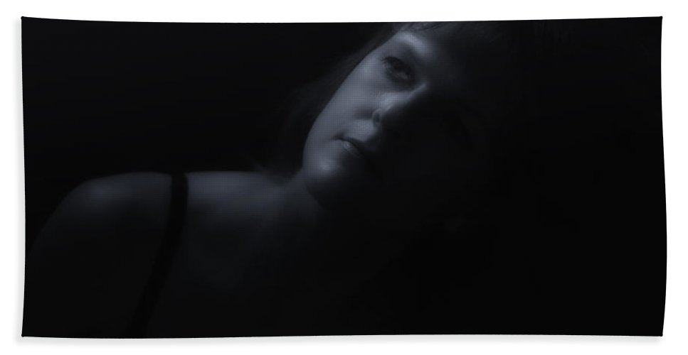 Black And White Bath Sheet featuring the photograph By Moonlight by Donna Blackhall