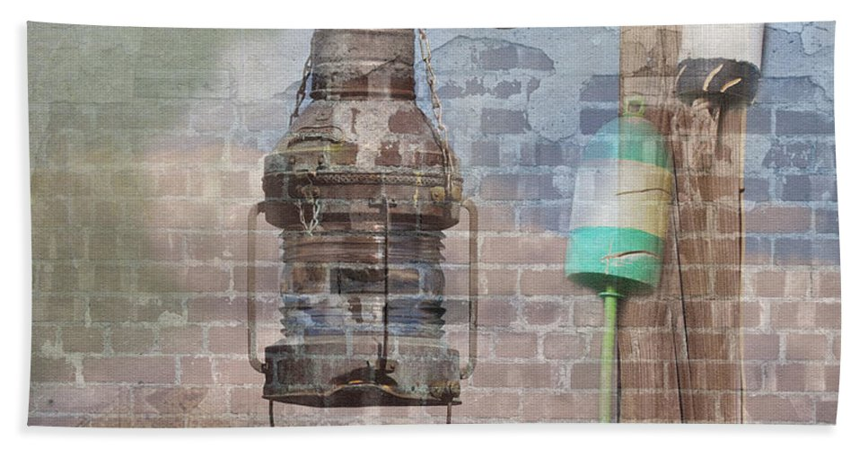 Composite Hand Towel featuring the photograph By The Sea In Color by Betty LaRue