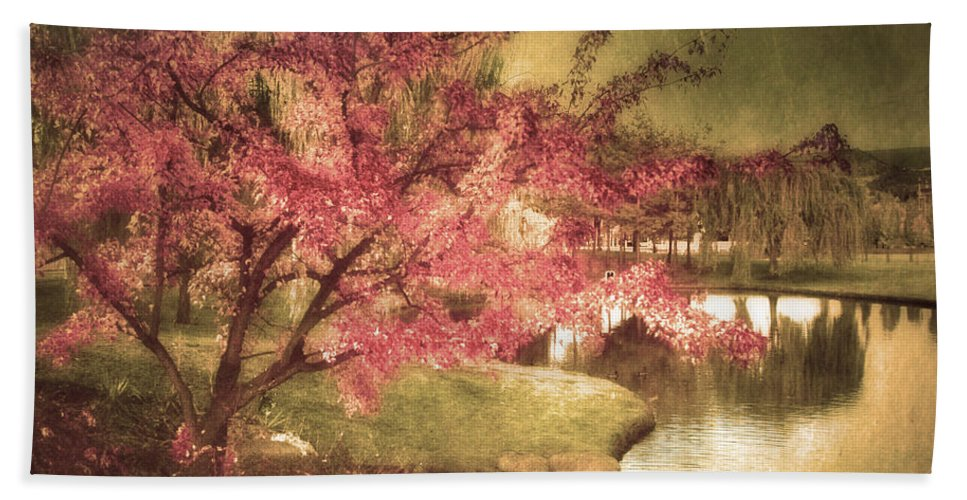 Tree Hand Towel featuring the photograph By The Water by Tara Turner