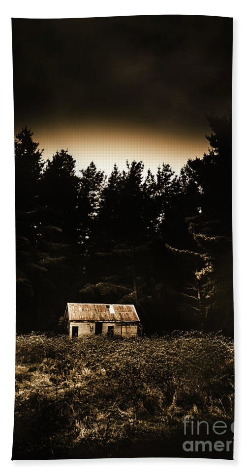 Woods Bath Towel featuring the photograph Cabin In The Woodlands by Jorgo Photography - Wall Art Gallery