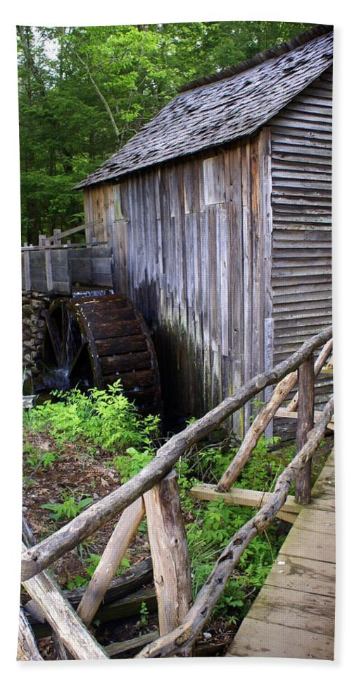 Cable Mill Hand Towel featuring the photograph Cable Mill 3 by Marty Koch