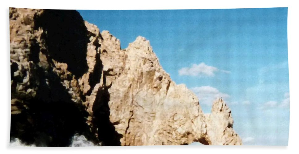 Mexico Hand Towel featuring the photograph Cabo San Lucas Arch by Will Borden