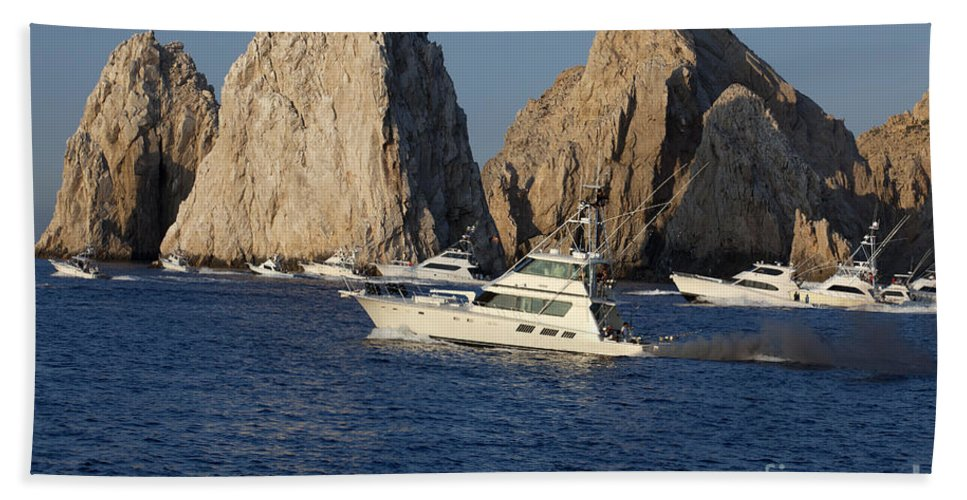 Fishing Bath Sheet featuring the photograph Cabo San Lucas - Sport Fishing by Anthony Totah