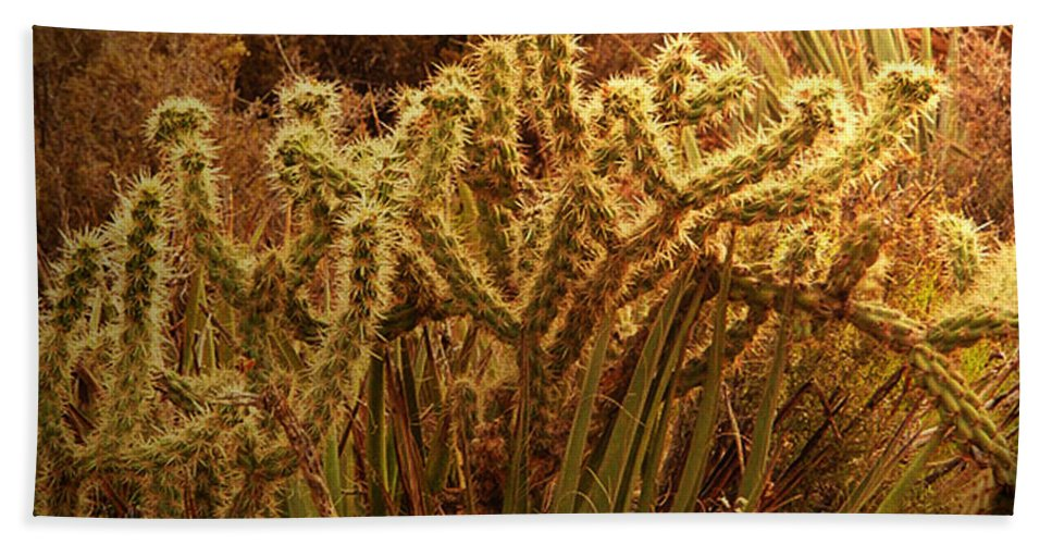 Cacti Bath Sheet featuring the photograph Cacti Family Reunion by Angela L Walker