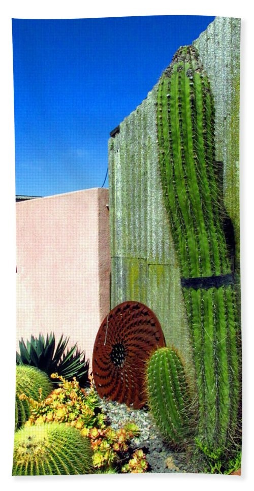 Cactus Hand Towel featuring the photograph Cactus Garden by Joyce Dickens