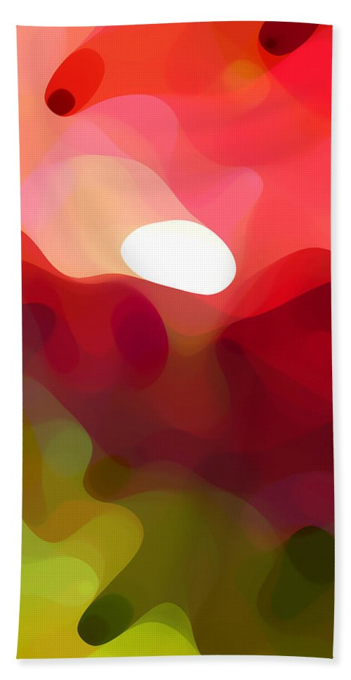 Abstract Art Bath Sheet featuring the painting Cactus Resting by Amy Vangsgard