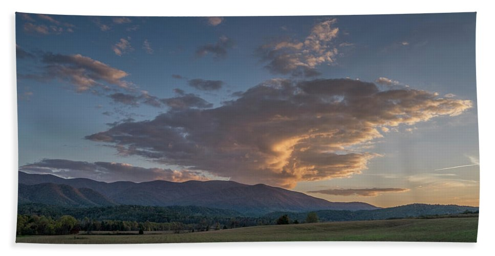 Landscape Bath Sheet featuring the photograph Cades Cove - Great Smoky Mountains National Park by Jim Pearson